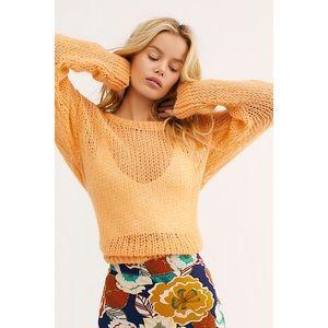 Free People Light and Lofty Alpaca Knit Sweater